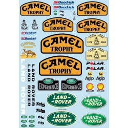 Camel Trophy decal sheet for TRX-4