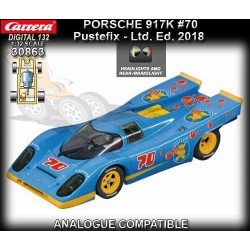 "Carrera 30863 Porsche 917k ""Pustefix"" w/Lights, '18 Limited Edition"
