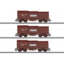 Marklin 46873 Coffret de trois wagons à capots télescopiques