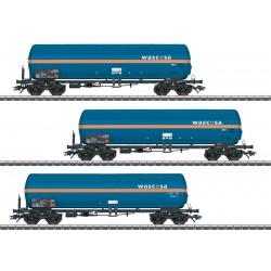 Marklin 48488 Coffret de trois wagons-citernes pour le transport de gaz pressurisé Zags et Zagkks