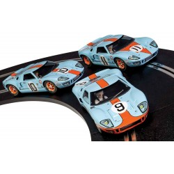Scalextric 3896A Legends Ford GT40 LeMans 1968 - Gulf Triple Pack - Limited Edition
