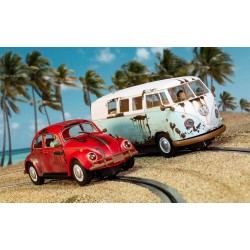 Scalextric 3966A Legends Rusty Rides Volkswagen Beetle & T1B Camper Van - Limited Edition