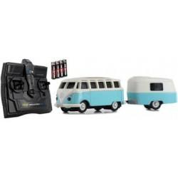 VW Combi Split Samba + Caravane RC Carson.