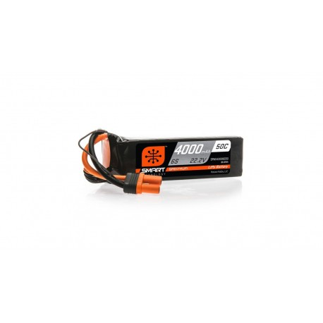 Spektrum 22.2V 4000mAh 6S 50C Smart LiPo Battery, IC5 (SPMX40006S5)
