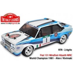 Rally Legends Fiat 131 Mirafiori abarth WRC RTR with Lights