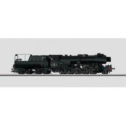 37154 locomotive à vapeur avec tender attelé