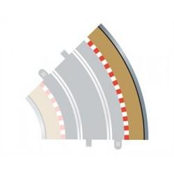 Scalextric Radius 2 bordure extérieure courbe 45° x 4