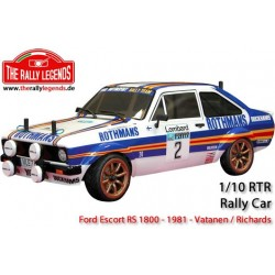 Rally legends Ford Escort RS 1800 Rothmans 1981 RTR