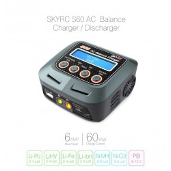 SKYRC S60 single AC charger (2-4S up to 6A- 60w)
