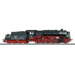 37899 Locomotive de Noël à vapeur avec tender séparé.