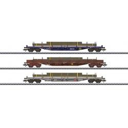 47050 Coffret de wagons plats