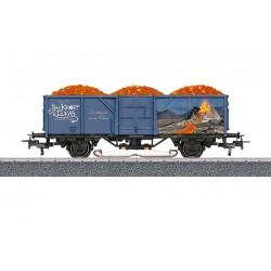 """Marklin 44818 Wagon tombereau """"Wagon de lave"""" Thème Jim Bouton"""