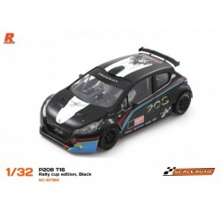 Scaleauto Peugeot 208 T16 Rally Cup Edition Noir SC-6178A