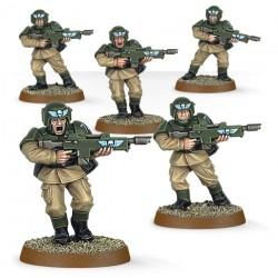 Warhammer 40K Garde impériale Cadians (5 models) facile a assembler 35-33