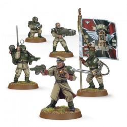 Warhammer 40K Astra Militarum - Cadian Command Squad 47-09