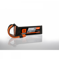 Spektrum 14.8V 2200mAh 4S 100C Smart LiPo Battery, IC3 (SPMX22004S100)