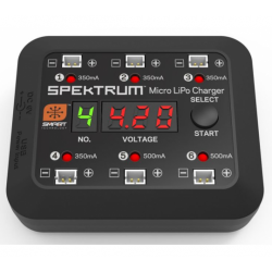 Spektrum CHARGEUR SMART MICRO 6-PORTS DC/USB 1S LIPO - SPMXC1060