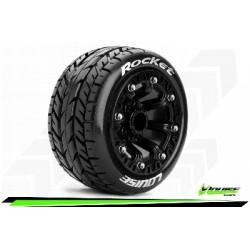 Louise RC - ST-ROCKET - Set de pneus Truck 1-16 - Monter - Sport - Jantes 2.2 Noir - Hexagone 12mm - L-T3188SB