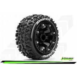 Louise RC - ST-SPIDER - Set de pneus Truck 1-16 - Monter - Sport - Jantes 2.2 Noir - Hexagone 12mm - L-T3200SB