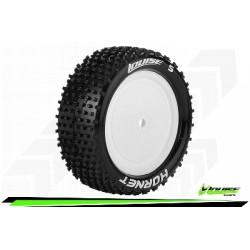 Louise RC - E-HORNET - Set de pneus Buggy 1-10 - Monter - Soft - Jantes Pleine Blanc - Hexagone 12mm - 4WD - Avant - L-T3170SWKF
