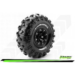 Louise RC - CR-ROWDY - Set de pneus Crawler 1-10 - Monter - Super Soft - Jantes 2.2 Noir - Hexagone 12mm - L-T3238VB