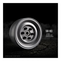 GMade Jantes Acier SR03 1.9 BeadLock SemiGloss Silver (x2) GM70182