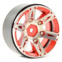 Fastrax Jantes Beadlock 6 Batons Rouge 1.9 (x4) FAST0146R