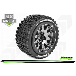 Louise RC - MFT - ST-HUMMER - Monter - Sport - Jantes 2.8 Bead-Lock Chrome-Noir - 1/2-Offset - Hexagone 12mm - L-T3314SBCH