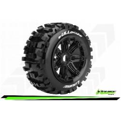 Louise RC - B-ULLDOZE - Set de pneus Buggy 1-5 - Monter - Sport - Jantes Bead-Lock Noir - Hexagone 24mm - Arr. - L-T3244B