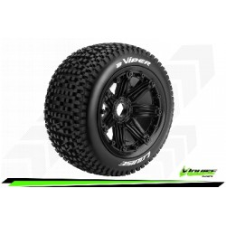 Louise RC - B-VIPER - Set de pneus Buggy 1-5 - Monter - Sport - Jantes Bead-Lock Noir - Hexagone 24mm - Arr. - L-T3245B