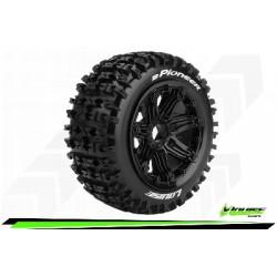 Louise RC - B-PIONEER - Set de pneus Buggy 1-5 - Monter - Sport - Jantes Bead-Lock Noir - Hexagone 24mm - Avant - L-T3267B