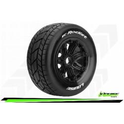 Louise RC - SC-ROCKET - Set de pneus Short Course 1-5 - Monter - Sport - Jantes Bead-Lock Noir - Hexagone 24mm - Arr. - L-T3291B