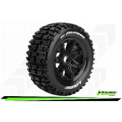 Louise RC - SC-PIONEER - Set de pneus Short Course 1-5 - Monter - Sport - Jantes Bead-Lock Noir - Hexagone 24mm - Arr.