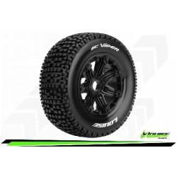 Louise RC - SC-VIPER - Set de pneus Short Course 1-5 - Monter - Sport - Jantes Bead-Lock Noir - Hexagone 24mm - Arr.