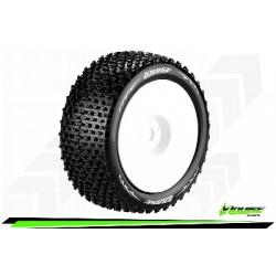 """Louise RC - T-PIRATE - Set de pneus Truggy 1-8 - Monter - Soft - Jantes Pleine Blanc - 1/2""""-Offset - Hexagone 17mm - L-T3134SWH"""
