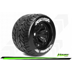Louise RC - MT-ROCKET - Set de pneus Monster Truck 1-8 - Monter - Sport - Jantes 3.8 Noir - 1/2-Offset - Hexagone 17mm