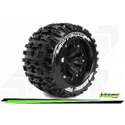 Louise RC - MT-PIONEER - Set de pneus Monster Truck 1-8 - Monter - Sport - Jantes 3.8 Noir - 1/2-Offset - Hexagone 17mm