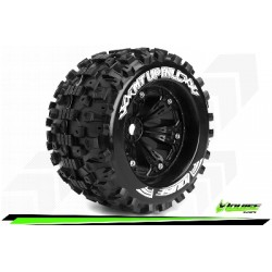 Louise RC - MT-UPHILL - Set de pneus Monster Truck 1-8 - Monter - Sport - Jantes 3.8 Noir - 1/2-Offset - Hexagone 17mm