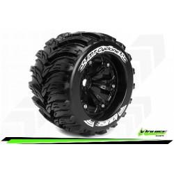 Louise RC - MT-CYCLONE - Set de pneus Monster Truck 1-8 - Monter - Sport - Jantes 3.8 Noir - 1/2-Offset - Hexagone 17mm