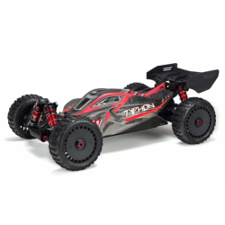 ARRMA 1/8 TYPHON 6S BLX 4WD BRUSHLESS BUGGY RTR, ROUGE/GRIS - ARA106046