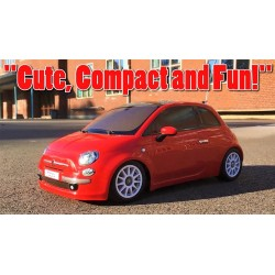 """TAMIYA RTR """"FIAT 500"""" PROFI RC-CAR EN ROUGE, ÉCHELLE 1:10 (35 CM) M03M 57787"""