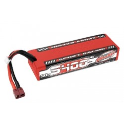 Team Corally - Sport Racing 50C LiPo Battery - 5400mAh - 7.4V - Stick 2S - Hard Wire - T-Plug
