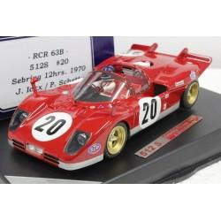 RACER FERRARI 512S n°20 J. ICKX - 12H. SEBRING 1970