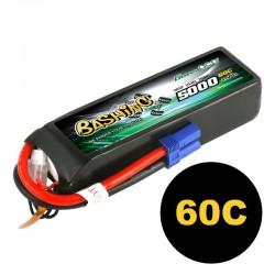 Gens ace 5000mAh 14.8V 4S1P 60C Lipo Battery Pack with EC5 Plug-Bashing Series