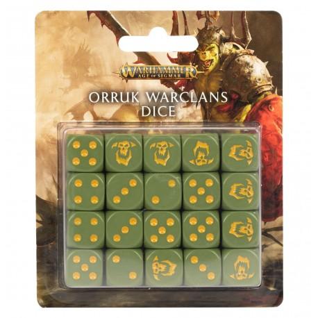 Warhammer Age Of Sigmar :Set de Dés Clans Guerriers Orruks