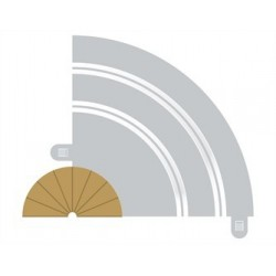 Scalextric Radius 1 bordure intérieure courbe 180° x 2