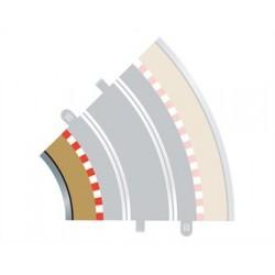 Scalextric Radius 2 bordure intérieure courbe 45° x 4