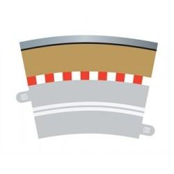 Scalextric Single Lane Radius 3 bordure extérieure 22.5° x 4