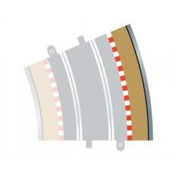 Scalextric Radius 4 bordure extérieur courbe 22.5° x 4