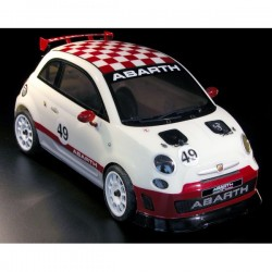 QUEENS OF THE ROAD Fiat 500 ABARTH ASSETTO CORSE 1/9 RC CAR RTR